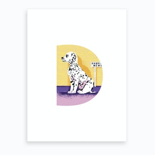 D Is For Dalmatian  Art Print