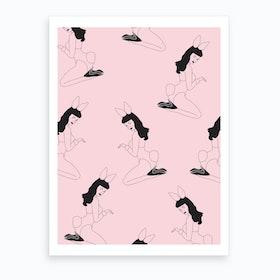Bunny Pin Up Art Print