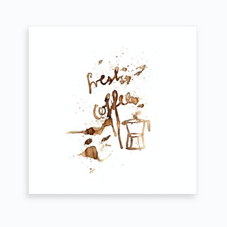 Fresh Coffee 2 Art Print