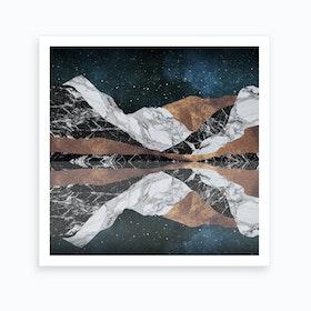 Landscape Mountains Square Art Print
