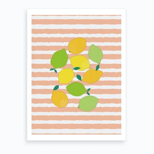 Citrus Crowd Art Print