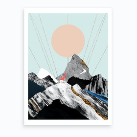 Abstract Alpine Vii Art Print