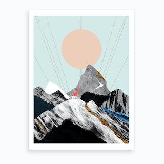 Abstract Alpine Vii Art Print