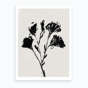 Mono Flower 1 Art Print