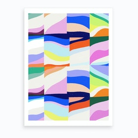 Groove Pattern Art Print