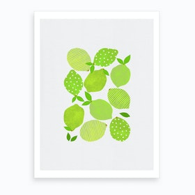 Lime Crowd Art Print