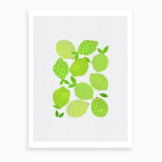 Lime Crowd Art Print