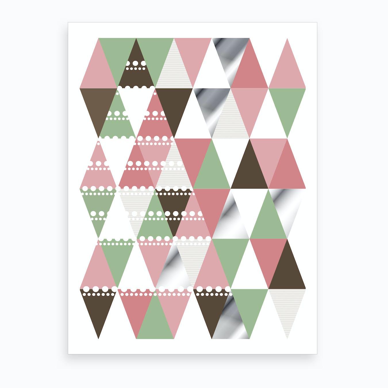 Geometric Pattern Tree Art Print