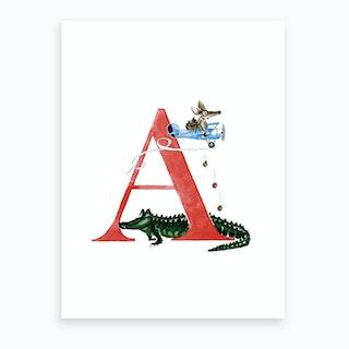 A Aardvark In An Airplane  Art Print