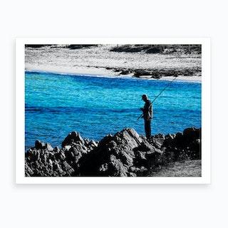 Sardinia Fisherman Art Print
