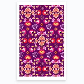 Wrong Fiesta Folk Purple Art Print