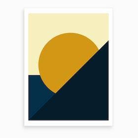 Geometric Abstract Summer Art Print