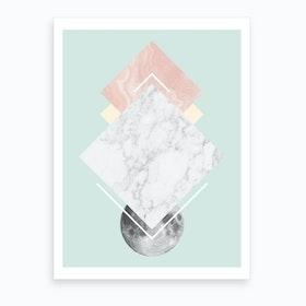 Geo Moon II Art Print