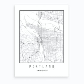 Portland Oregon Street Map Art Print