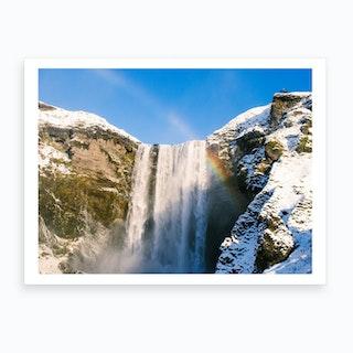 Skogafoss Waterfall Iceland 2 Art Print