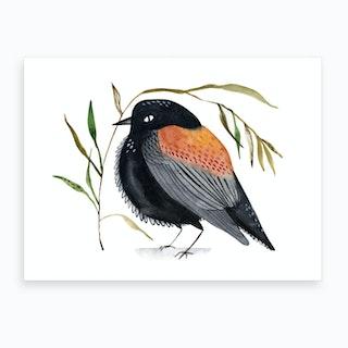 Watercolor Bird 1 Art Print