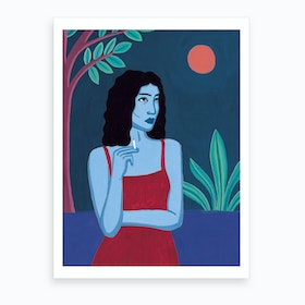 What If We Were All Shades Of Blue.2 Art Print