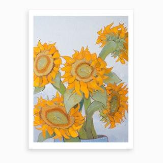 Sunflower Heads 3 Art Print