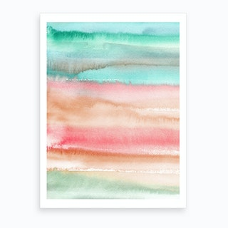 Gradient Watercolor Melon Art Print