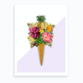 Pinneaple Ice Cream Art Print