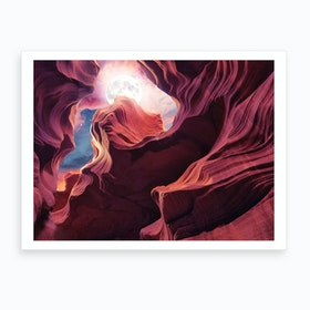 Grand Canyon with Space & Full Moon Collage II Art Print