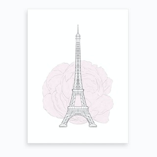 Eiffel Tower Bloom Art Print