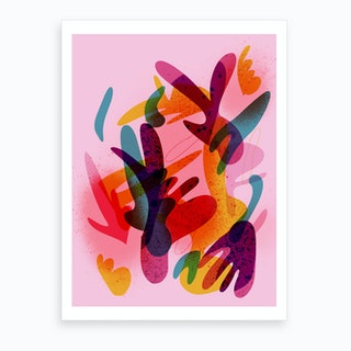 Abstract Colorful 03 Art Print