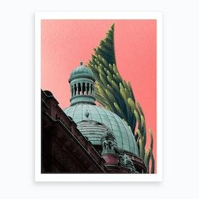 Botany Castle Art Print