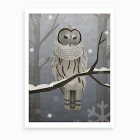 Illu Owl Art Print