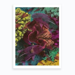 Deep Hue Sea 1 Art Print