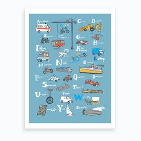 Abc Vehicle Art Print
