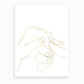 Hand To Hold I Art Print