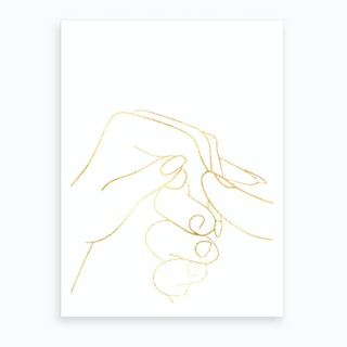 Hand To Hold I Art Print