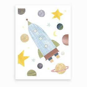 Space Rocket Art Print