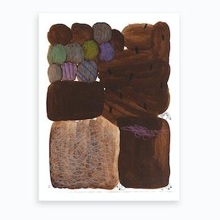 Brown Horsy Art Print