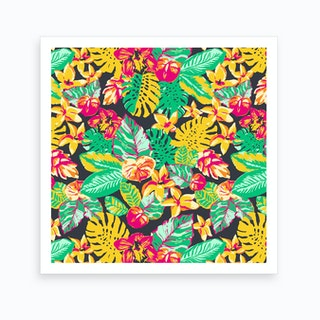 Tropical Garden Floral Art Print