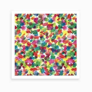 Spring Colors Multicolored Square Art Print