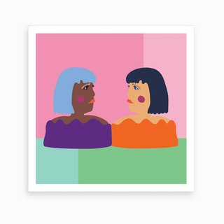 Cool Girls Art Print