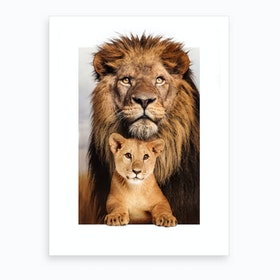 Lion Family Art Print