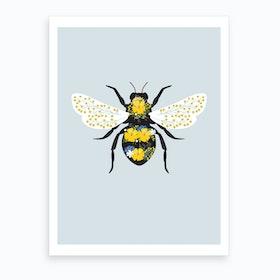 Floral Bee 2 Art Print