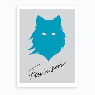 Feminism Blue Grey Art Print