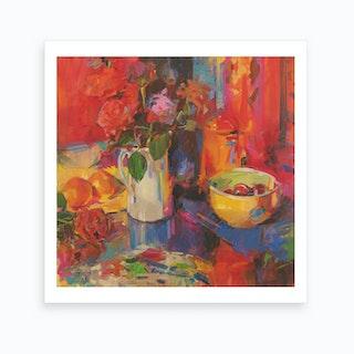 Candy Roses  Art Print