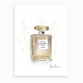 Beautiful Perfume Art Print