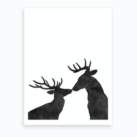 Seasons Kissings Art Print