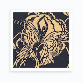 Flower Dancer Yellow Art Print