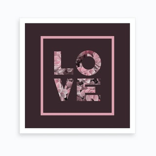 Succulent Love Art Print