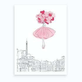 Above The Cloud Pink Art Print