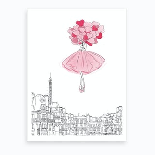 Above The Cloud Pink Art Print