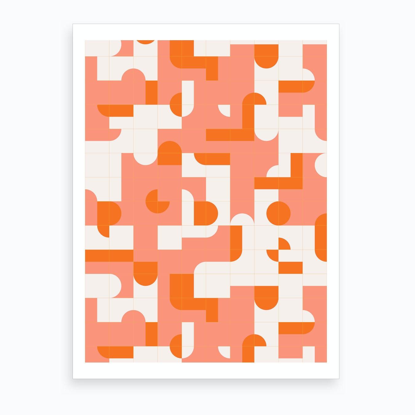 Puzzle Tiles Art Print By Designdn Fy