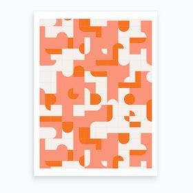 Puzzle Tiles Art Print